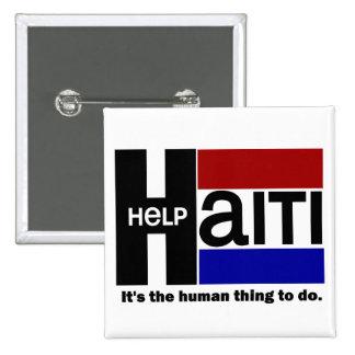 Help Haiti CHARITY DESIGN 2 Inch Square Button