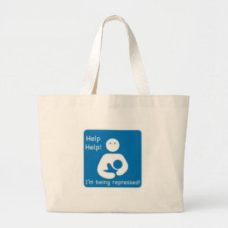 Help, Help! Large Tote Bag