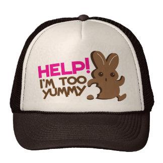 HELP ! I'm too YUMMY! Easter bunny Chocolate run Trucker Hat