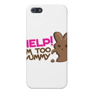 HELP ! I'm too YUMMY! Easter bunny Chocolate run iPhone 5 Case
