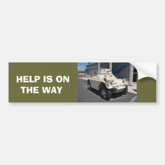 HELP IS ON THE WAY BUMPER STICKER