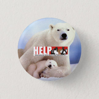 help ISBD Polar Bears 1 Inch Round Button