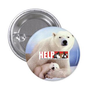 help ISBD Polar Bears 1 Inch Round Button