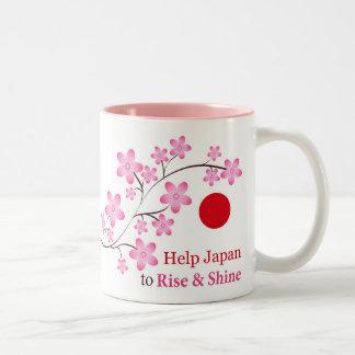 Help Japan Two-Tone Mug