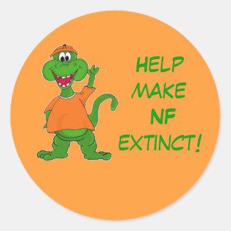 Help make NF extinct! Classic Round Sticker