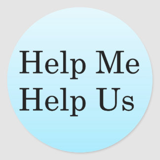 Help Me Help Others Stickers