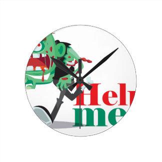 help me zombie - Funny Design Clock