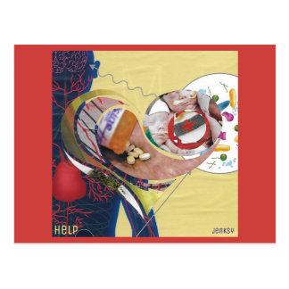 """Help"" Postcard"