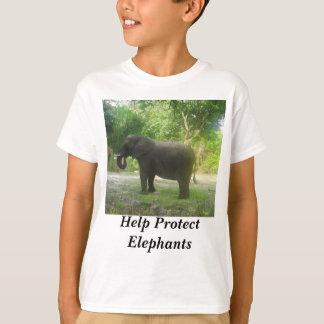 Help Protect Elephants Kids T-shirt
