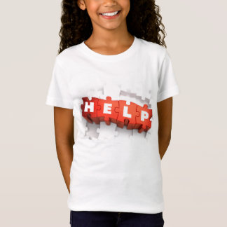 Help Puzzle Pieces Girls T-Shirt