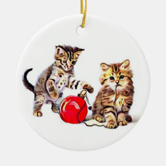 Help Taking Down the Tree Ceramic Ornament