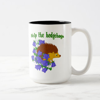 Help the Hedgehogs Two-Tone Coffee Mug