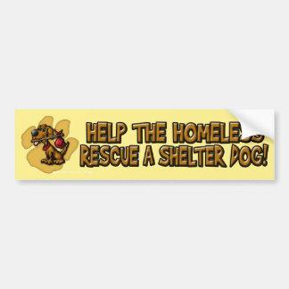 Help the Homeless bumpersticker Bumper Sticker