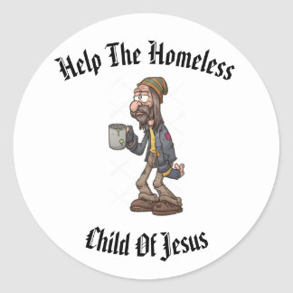 Help The Homeless Classic Round Sticker