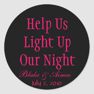 Help Us Light Up Our Night Classic Round Sticker