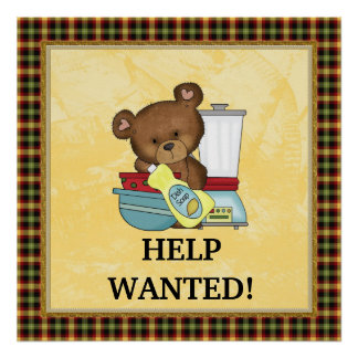 Help Wanted Kitchen Poster