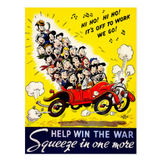Help Win the War - Carpool Postcard