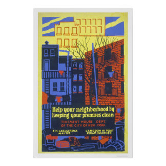 Help Your Neighborhood 1936 WPA Poster