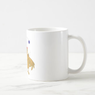 Helped chicken juggling classic white coffee mug