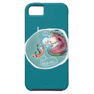 helpful fishbait earthworm funny cartoon iPhone 5 case
