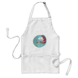 helpful fishbait earthworm funny cartoon standard apron