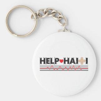 HelpHaitiBanner2.ai Basic Round Button Keychain