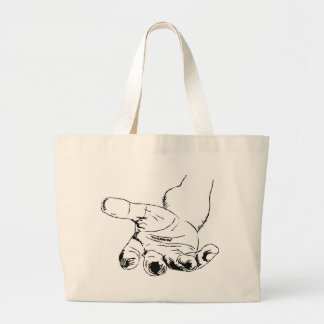 Helping Hand Large Tote Bag