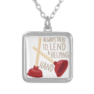Helping Hand Silver Plated Necklace