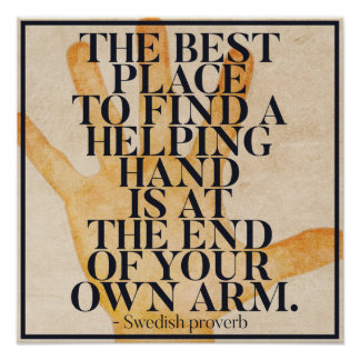 HELPING HAND - Swedish Proverb Poster