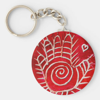 Helping Hands For Haiti Basic Round Button Keychain