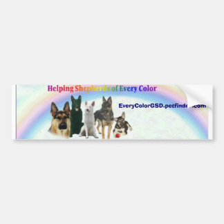 Helping Shepherds of Every Color bumper sticker... Bumper Sticker