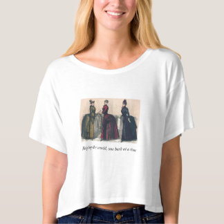 Helping the world, one back at a time t-shirt