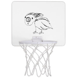 Helpless Bird Sketch Up Mini Basketball Hoop
