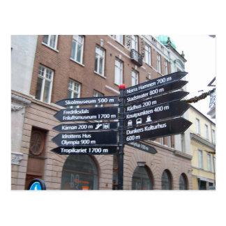 Helsingborg Sweden Street Signs Postcard