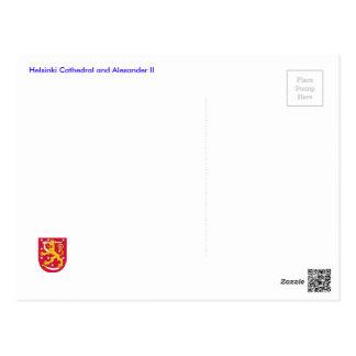 Helsinki Cathedral and Alexander II Postcard