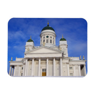 Helsinki Cathedral In Winter Snow Magnet