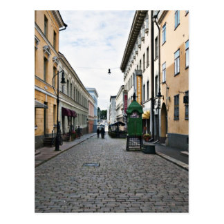 Helsinki city street postcard
