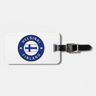 Helsinki Finland Luggage Tag