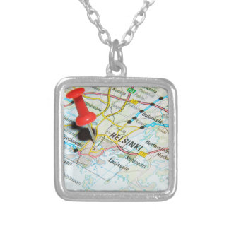 Helsinki, Finland Silver Plated Necklace
