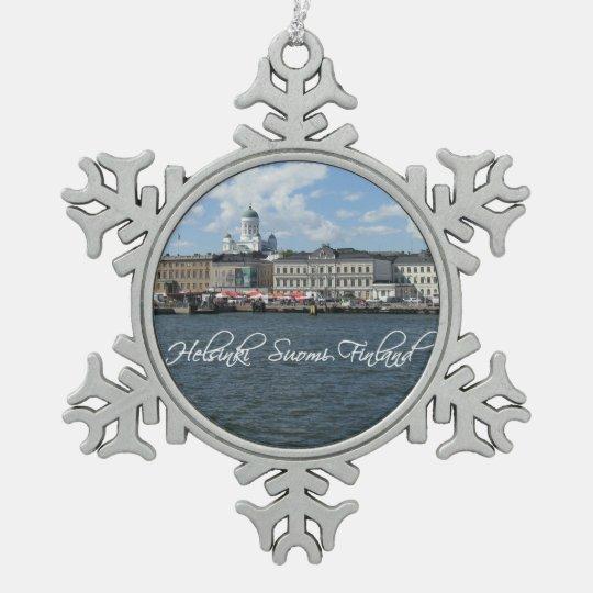 Helsinki Harbour custom ornament