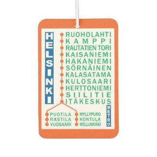 Helsinki Metro Stations car air freshner Air Freshener