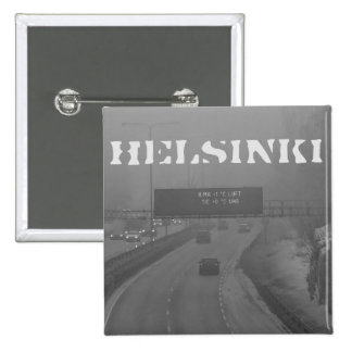 Helsinki rush hour badge 2 inch square button