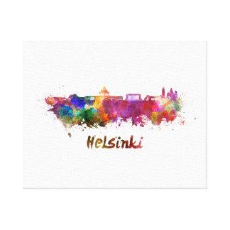 Helsinki skyline in watercolor canvas print