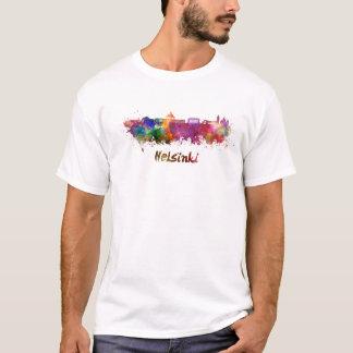 Helsinki skyline in watercolor T-Shirt
