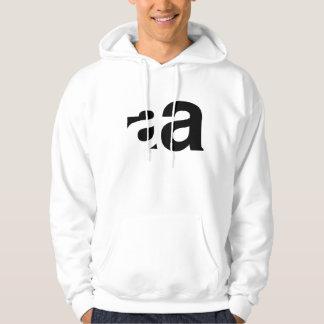 """Helvetica """"a"""" hoodie"""