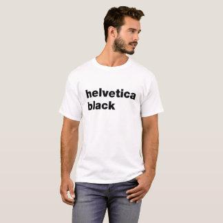helvetica black T-Shirt