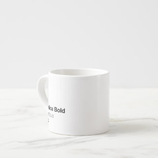 Helvetica Bold is the neue Black Espresso Cup