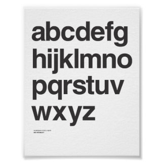 Helvetica lowercase poster