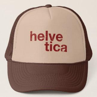 helvetica trucker hat