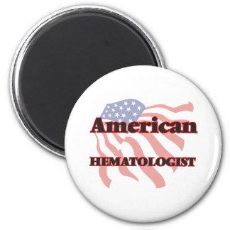 Hématologue américain magnet rond 8 cm